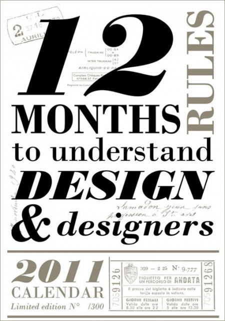 Calendar Typography Life : W k studio letterpress calendar design work life