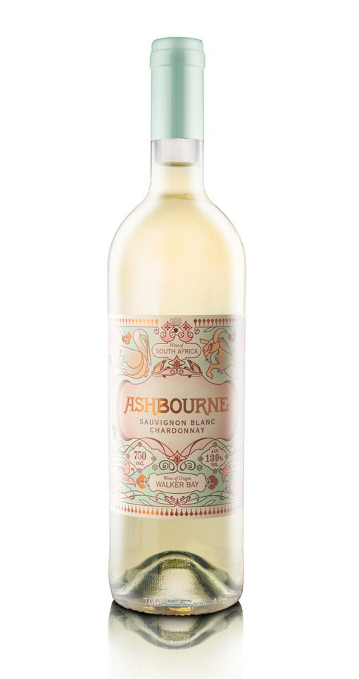 pastels Pearly Yon's Ashbourne Wine Label